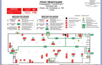 Разработка планов эвакуации людей и планов расстановки транспортных средств на стоянках