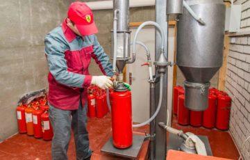 Перезарядка и техобслуживание огнетушителей