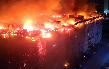 Крупный пожар в жилом доме Краснодара уничтожил 64 квартиры