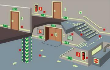 Здания, которые должны иметь не менее двух эвакуационных выходов с этажа